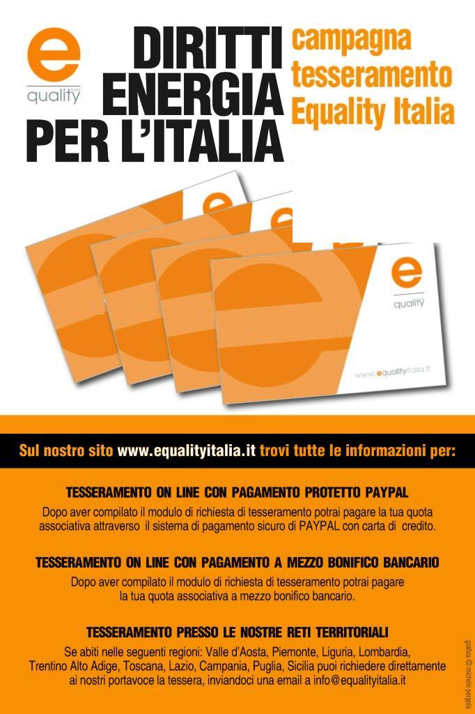 campagna tesseramento equality italia