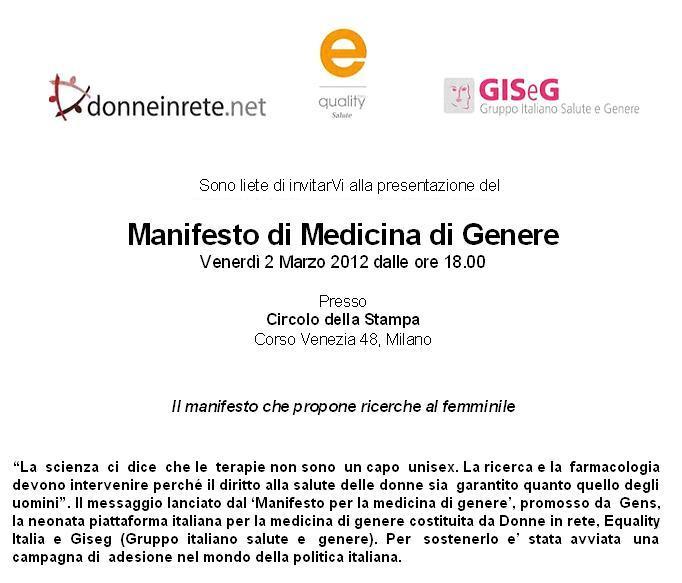 invito - medicina di genere