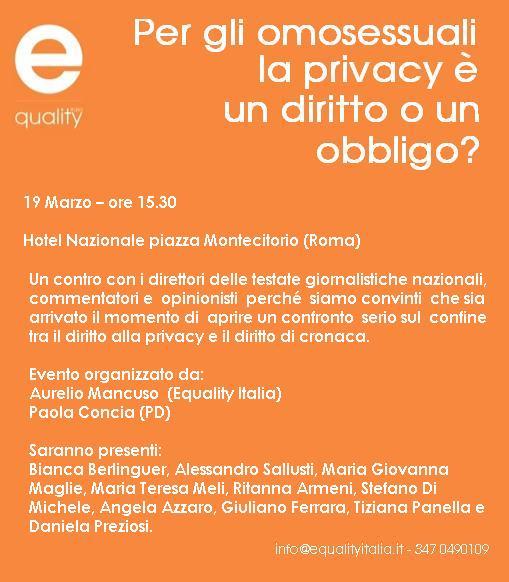 evento privacy