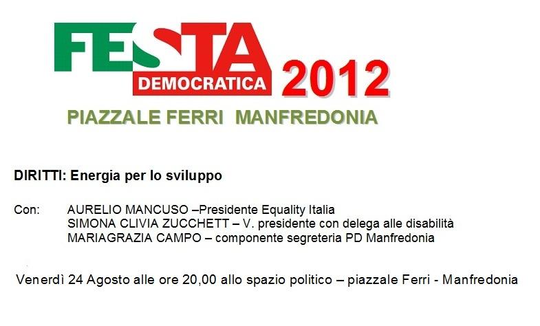 festa democratica manfredonia