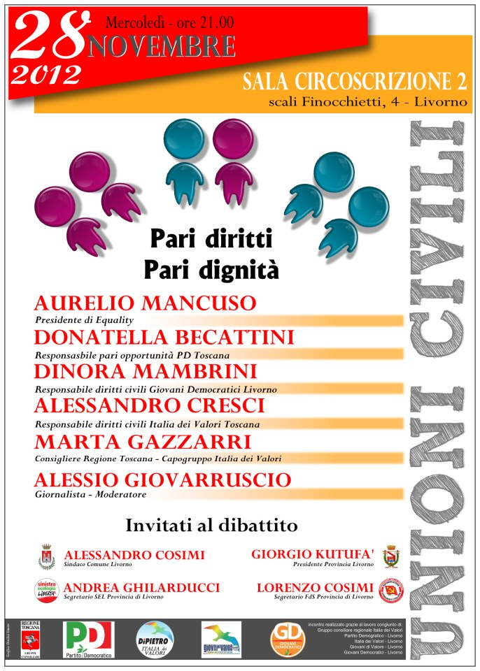 Evento Livorno Pari diritti Pari Dignita