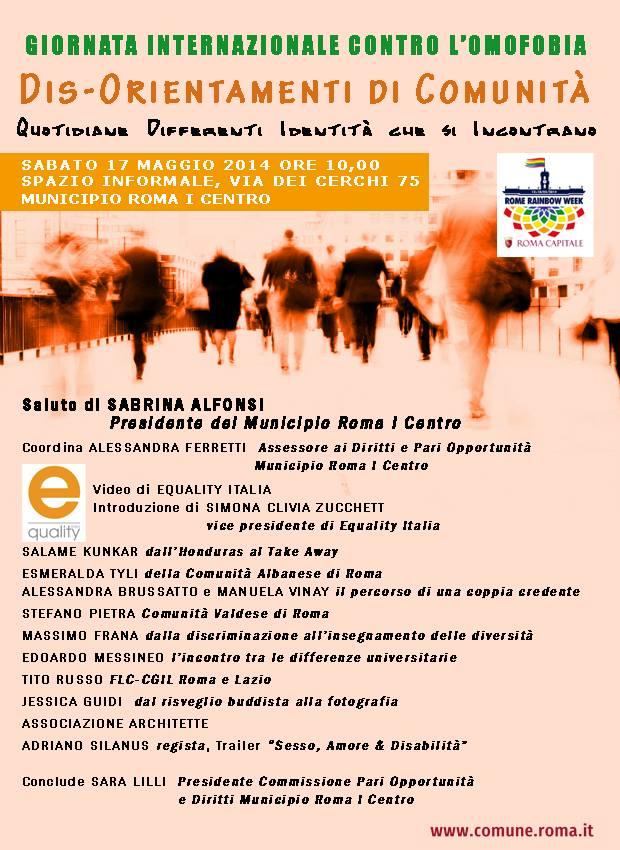 Roma - giornata contro omofobia