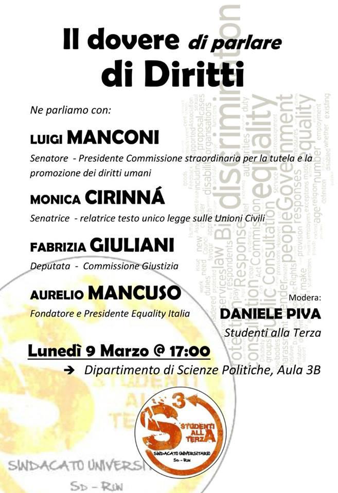 il dovere di parlare di Diritti - 09-03-15 Roma