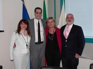 Stuart Milk, la cons. regionale Mori, l'assessore Marzocchi e Aurelio Mancuso