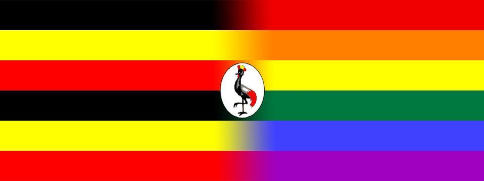 Uganda flag - rainbow