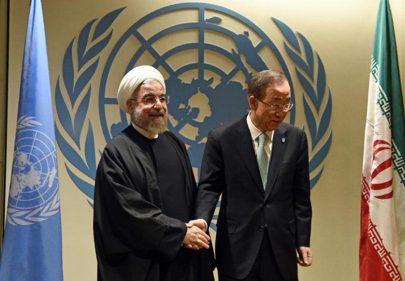 Hassan Rouhani e Ban Ki Moon ,